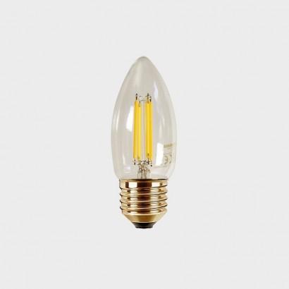 LED Candle CLEAR E27