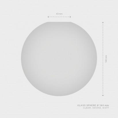 NÁHR. SKLO SPHERE Ø 140 mm